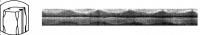 КВ14 Битые грани с 2-мя полосами