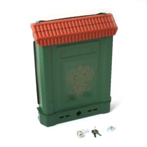 Ящик почтовый ПРЕМИУМ с металлическим замком (зеленый, с орлом)