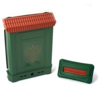 Ящик почтовый ПРЕМИУМ с пл. защелкой и накладкой (зеленый, с орлом)